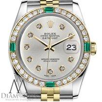 Rolex Ladies Rolex 36mm Datejust 2tone Silvercolor Dial...