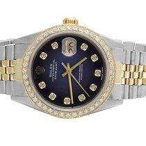 Rolex Datejust 2 Tone 18K/ S.Steel 36MM Quickset Blue Dial...