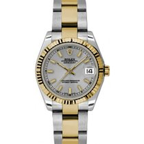 Rolex Datejust Ladies Midsize 178273-STLSO Steel Index Yellow...