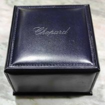 Chopard vintage watch box blù leather