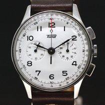 天梭 (Tissot) Chronograph Handaufzug White Dial ca.1950