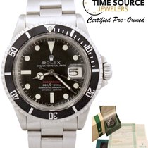 Rolex Submariner 1680 (Red) MK IV Automatic Stainless B&P...