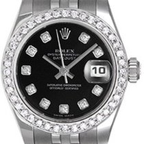 Rolex Ladies Datejust Stainless Steel Watch 179174