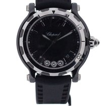 Chopard Happy Sport Ceramic 36mm Floating Diamonds Limited NEW
