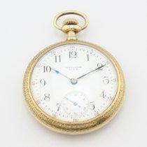Waltham Vintage Cuerda Manual Reloj de Bolsillo Oro 18