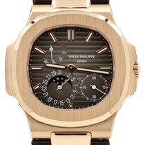 Patek Philippe 5712R-001 Nautilus 40mm Black Index Moon Phase...