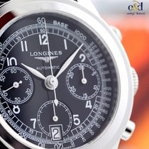 Longines Heritage 1942 Black Arabic 40mm Steel on Leather...