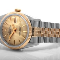 Rolex Mens 18k/SS Datejust - Champagne Tapestry Dial - 16233