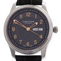 Louis Erard Heritage Day Date Stahl Automatik 40 mm