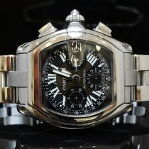 Cartier Roadster Chronograph, W62007X6,  Box & Papers
