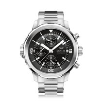 IWC Schaffhausen Aquatimer Black Automatic Chronograph Mens...