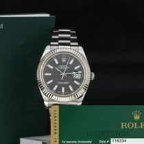 Rolex Datejust II Black Index Dial Fluted Bezel -With Papers