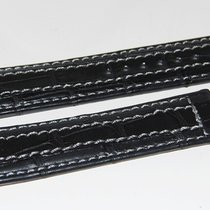Lederband Kroko  schwarz  für Faltschließe