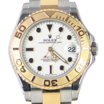勞力士 (Rolex) Yacht Master Gold And Steel White Automatic 168623WT