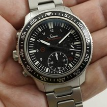 Sinn EZM 13 Diving Chronograph w/ box & tool left handed