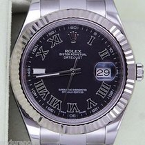 Rolex Datejust Ii Mens Stainless Steel 41mm 18k White Gold...