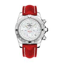 Breitling AB0140AA/A746-sahara-red-tang Chronomat 41 Chronogra...
