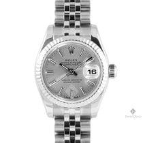 롤렉스 (Rolex) Datejust Stainless Steel Silver Stick Dial Fluted...