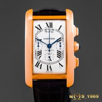 Cartier Tank Americaine XL 18K Rose Gold Chrono  Triple Date ...