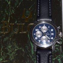 Bulova CRONO ACCUTRON ACCIAIO DATE ANNO 1980 MM. 38 WR 5 ATM ...