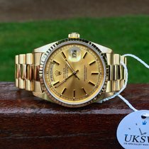 Rolex Day-Date President 18ct Gold – Champagne Dial 18238 FULL...