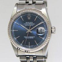 Rolex Datejust Stainless Steel/18k White Gold Bezel Blue Dial...