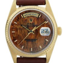Rolex 18038  Gold Burled Wood Dial Watch