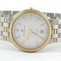 Maurice Lacroix Classic Herren Uhr Stahl/gold Quartz 34mm Weiss