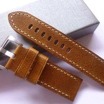 Handmade bodhy 24/24mm Tan leather band - 24mm Strap Panerai...