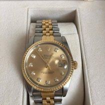 Rolex Datejust Gold Steel Jubilee 16233 Diamond Dial 36mm