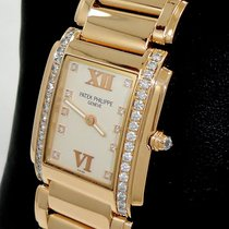 Patek Philippe Twenty-4 4910/11r18k Rose Gold Diamonds Ladies...