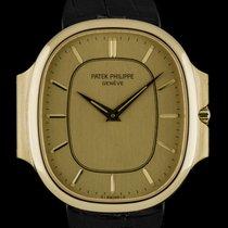 Patek Philippe 18k Yellow Gold Champagne Baton Dial Ellipse...