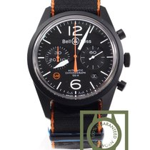Bell & Ross Vintage BRV126-O-CA Carbon Orange Chronograph...