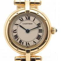 Cartier Panther Lady's Round Solid 18k Yellow Gold Quartz...