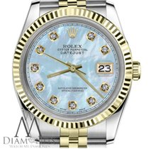 Rolex Twotone 18k Rolex 26mm Datejust Baby Blue Mop Mother Of...