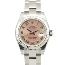 Rolex Lady-Datejust Two Tone 18kt WG/SS Pink Roman Dial - 179174