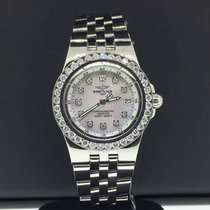 Breitling Starliner 30mm 2ct Custom Diamond Bezel Factory...