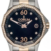 Corum Admirals Cup Legend Diamond Two Tone Automatic Ladies...