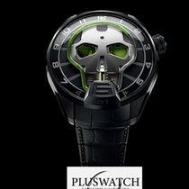 HYT Skull Watch Green Eye 151TD41GFAB 51mm T