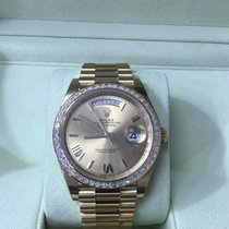 Rolex 228398TBR chrp DayDate 40 Yellow Gold Baguette Diamond...