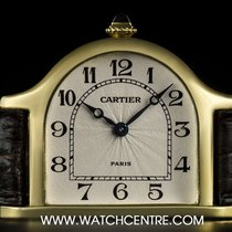 Cartier 18k Yellow Gold Silver Arabic Dial Ltd Ed La Cloche...