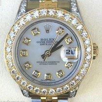 Rolex Midsize Datejust Steel Floral Dial Custom  Diamond Bezel...
