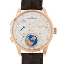 Jaeger-LeCoultre Duometre 18k Rose Gold Silver Manual Wind...