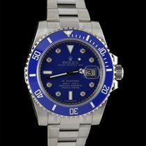 "勞力士 (Rolex) Submariner ""smurf"" In White Gold And..."