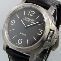 Panerai Unworn  Pam 562  Luminor Base 8 Days Titanio Brown...