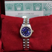 Rolex Ladies Datejust 69173 Diamond Dial & Bezel 18k Gold...