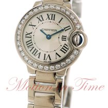 Cartier Ballon Bleu Small, Silver Dial, Diamond Bezel - White...