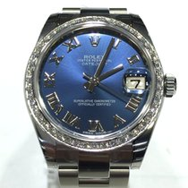 Rolex Datejust Steel MidSize 31mm Diamond bezel Blue Dial...