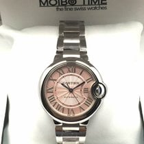 Cartier W6920100 Stainless Steel Ballon Bleu 33mm PINK [NEW]