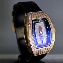Richard Mille RM 007 Red Gold Partial Pave Diamonds  Red Dial